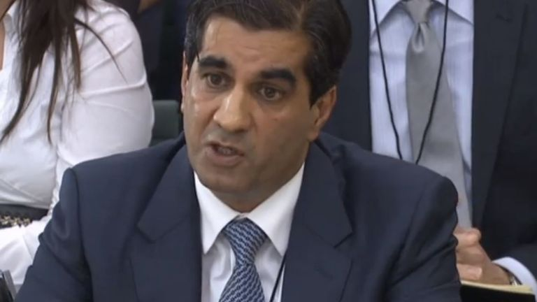 2 Sisters Food Group Group chief executive and owner Ranjit Singh Boparan appearing at the Environment, Food and Rural Affairs (Efra) Select Committee
