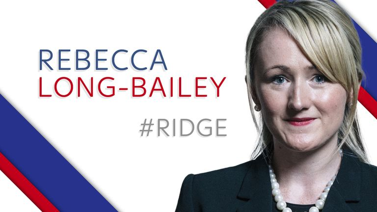 Labour leader candidate Rebecca Long-Bailey