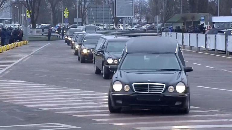 Ukraine bodies being repatriated.