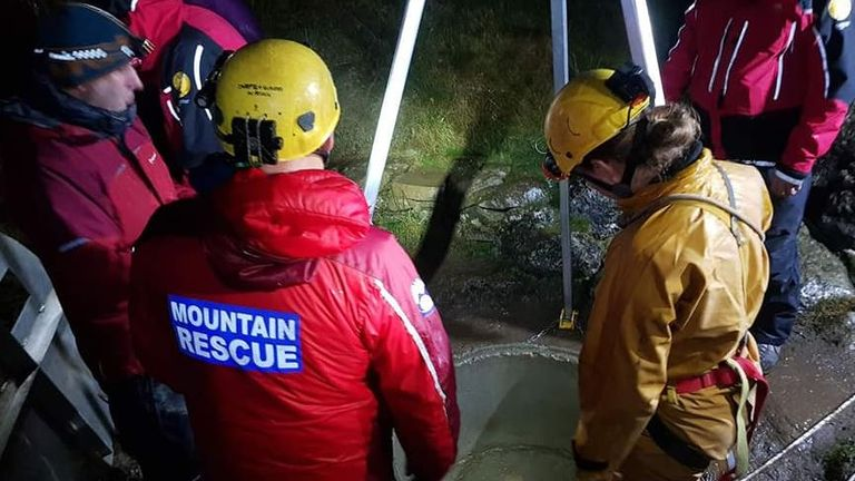 More than 40 rescuers were involved in the operation