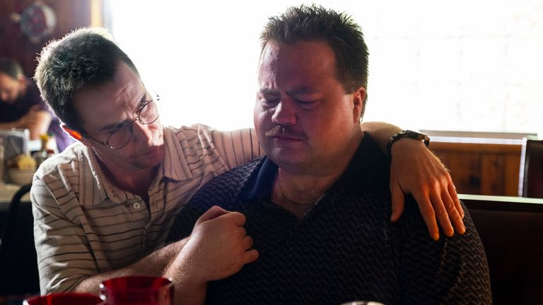Sam Rockwell and Paul Walter Hauser in Richard Jewell. Pic: Warner Bros