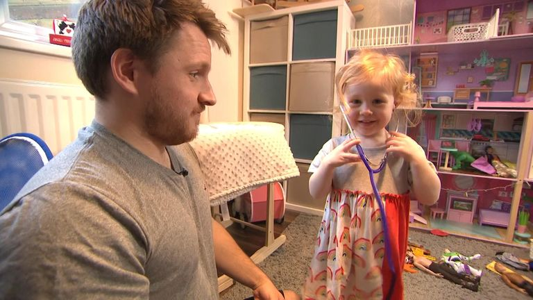 Mr Hunt suffered post-natal depression after the birth of his daughter Isabelle