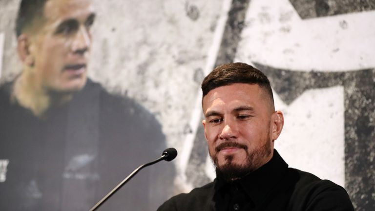 Sonny Bill Williams, the two time Rugby Union World Cup winner.