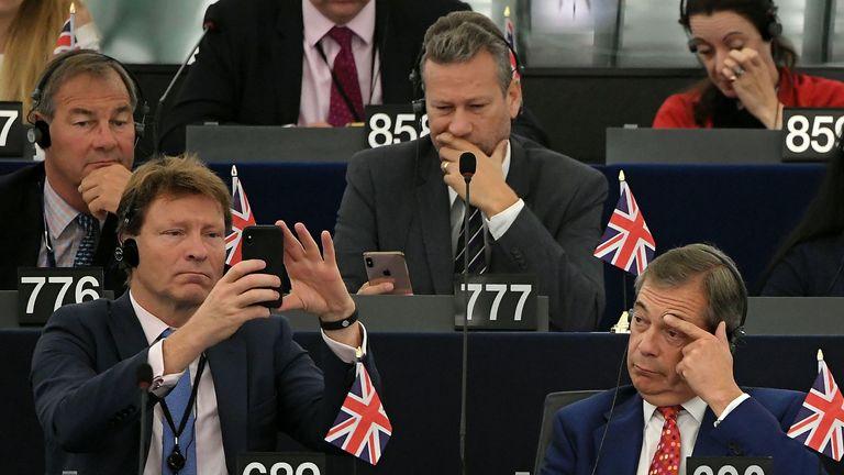 Rupert Lowe (top left) is a Brexit Party MEP