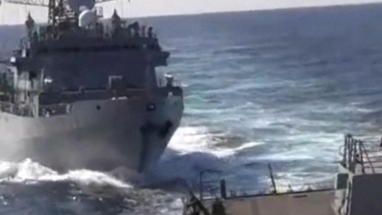 US and Russian ships spar in North Arabian Sea