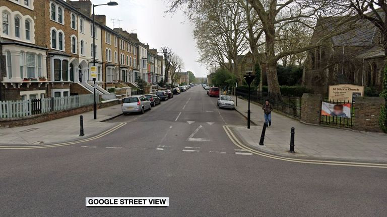 A newborn baby was found abandoned in Sandringham Road in Dalston