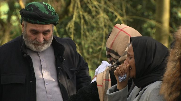 Shah Subhani's family members pay tribute near where his remains were found