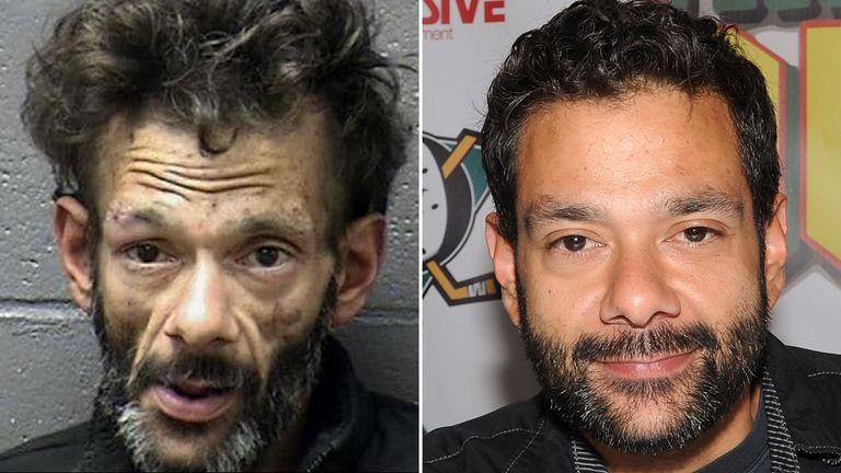 Shaun Weiss pictured in 2020 (left) and 2015 (right)