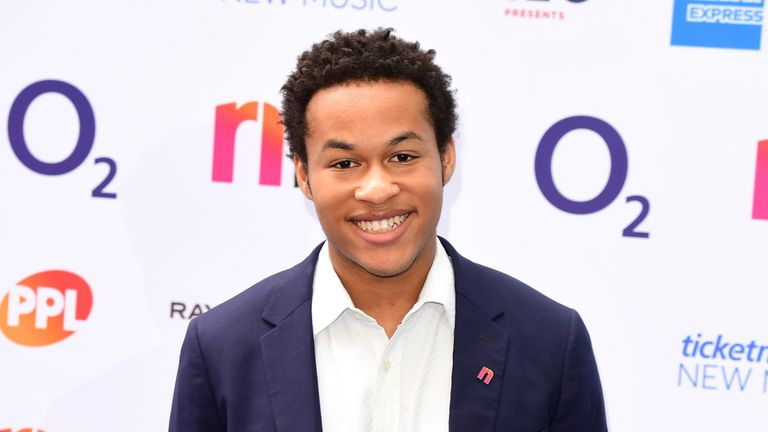 Sheku Kanneh-Mason attending the O2 Silver Clef Awards at the Grosvenor House Hotel, London
