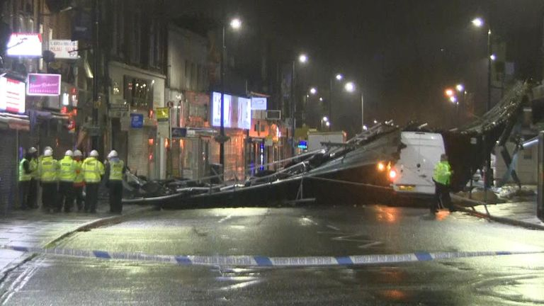 Gusts of more than 50mph were recorded in the Slough area on Tuesday evening