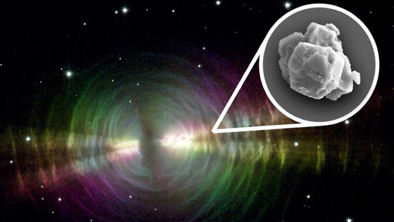 The presolar grains are likely to have originated from stars similar to those in Egg Nebula Pic: NASA