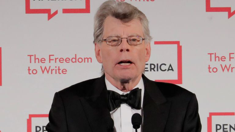 Author and honoree Stephen King at the PEN America Literary Gala in New York in 2018