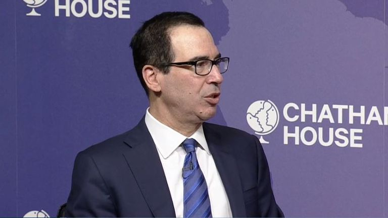 Mr Mnuchin said the US wanted to do a deal this year. Pic: Chatham House