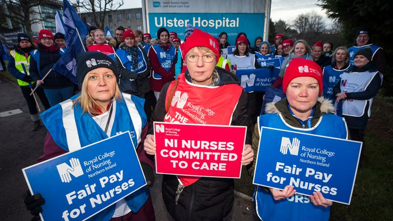 Thousands of nurses in NI are striking in a row over pay