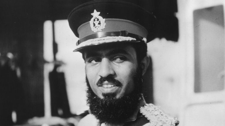 Qaboos Bin Said Al Said in military uniform, circa 1970