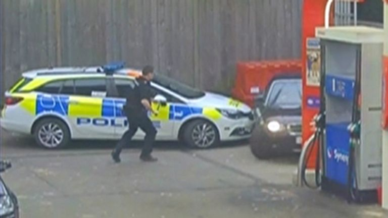 A man who hid underneath a vehicle in a bid to evade police has been sentenced.