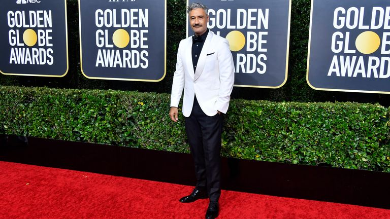 Taika Waititi at the Golden Globes 2020