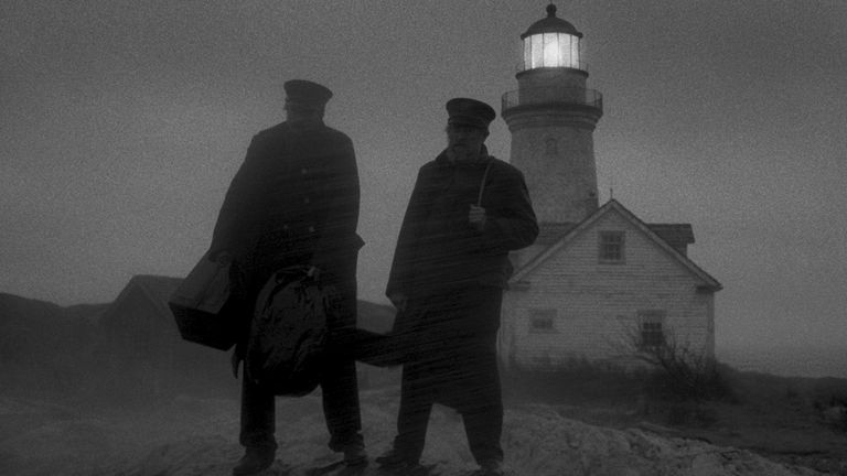 Robert Pattinson and Willem Dafoe in The Lighthouse. Pic. Universal