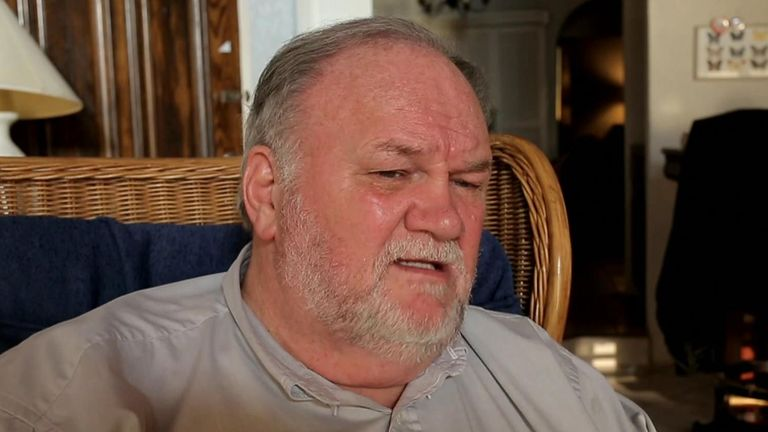 Thomas Markle being interviewed by Channel 5