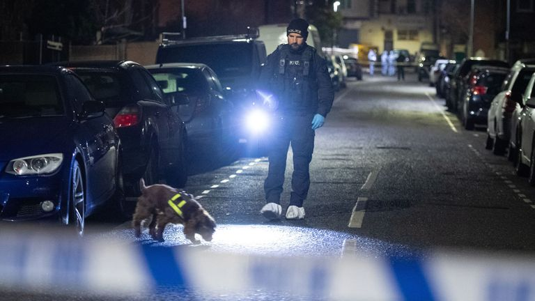Police at the scene in Seven Kings, Ilford after a multiple stabbing