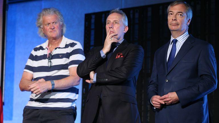 Tim Martin, Ian Paisley Jr and Nigel Farage