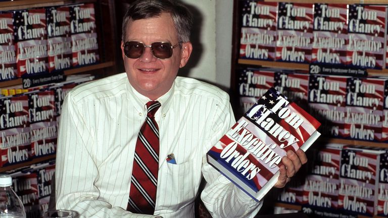 Seven of Tom Clancy's (pictured) novels were written by Mark Greaney