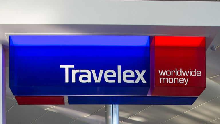 LONDON, ENGLAND - SEPTEMBER 13: A Travelex ATM at London Heathrow International Airport's Terminal 2 is viewed on September 13, 2016, in London, England. The collapse of Great Britain appears to have been greatly exaggerated given the late summer crowds visiting city museums, hotels, and other important tourist attractions. (Photo by George Rose/Getty Images)