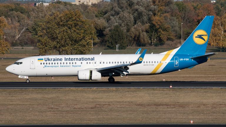 Ukraine International Airlines Boeing 737-800 with the registration UR-PSR
