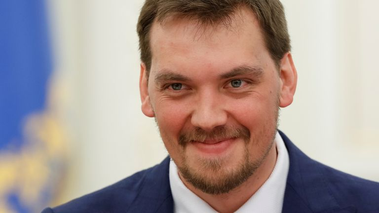 A recording appeared to suggest Oleksiy Honcharuk had criticised the president
