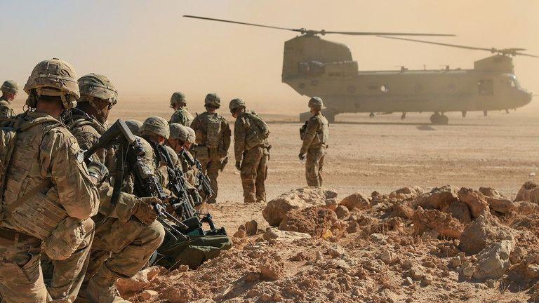 U.S. Soldiers at Al Asad Air Base, Iraq in 2018