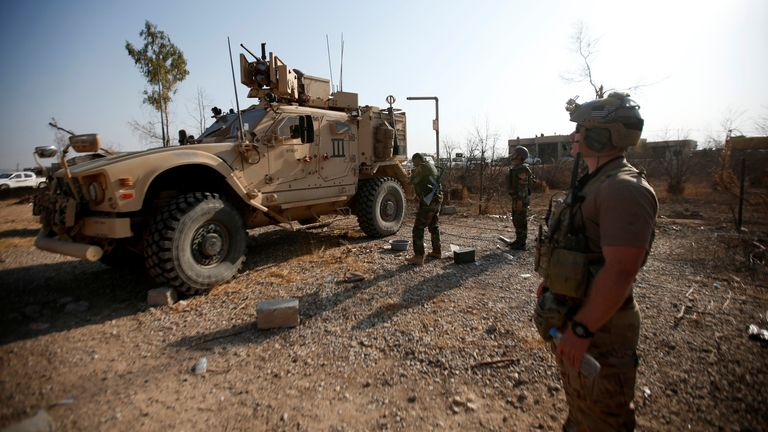 A US military vehicle in Iraq