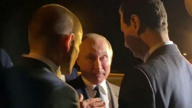 Putin and Assad meet in Damascus