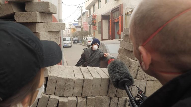 People are putting up walls in some areas to protect themselves