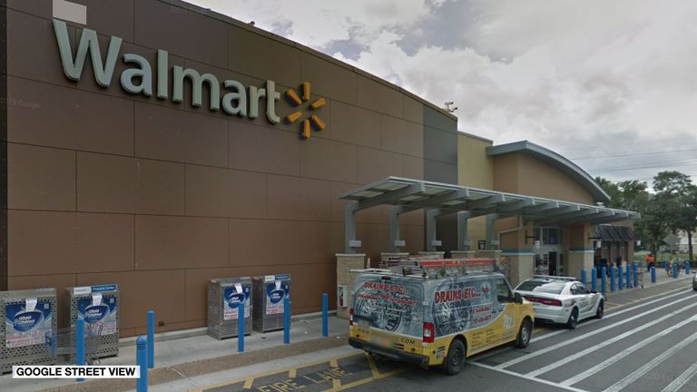 Police were called to the Walmart store in Fletcher Avenue in Tampa, Florida on on Saturday evening