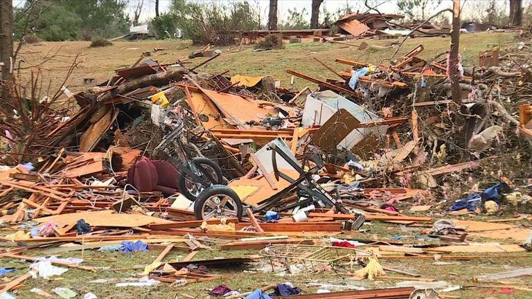 A deadly tornado hit Pickens County, Alabama