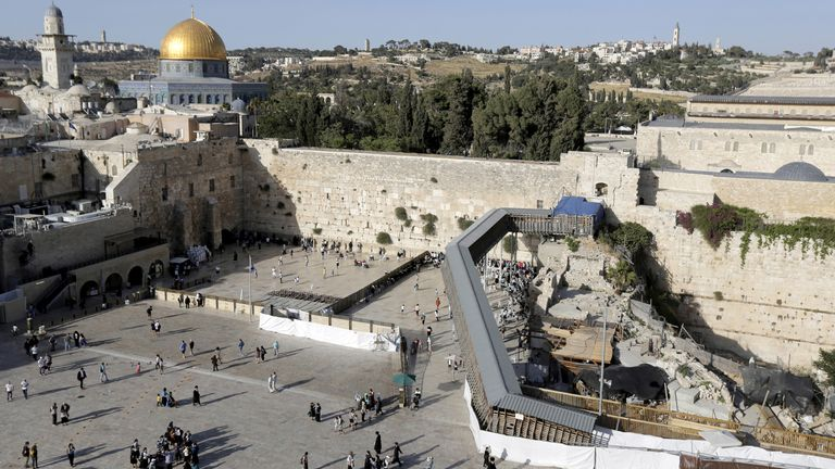 The mosque is on what Israel calls Temple Mount