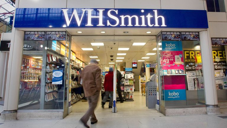 A general view of a branch of WH Smith in London.