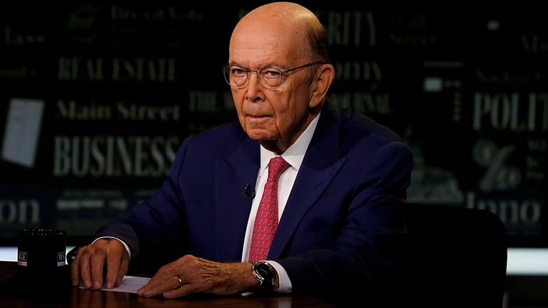 "U.S. Secretary of Commerce Wilbur Ross visits ""WSJ at Large with Gerry Baker"" at Fox Business Network Studios on September 26, 2019 in New York City"
