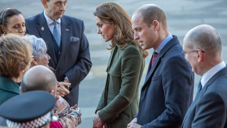 Prince William and Catherine, Duchess of Cambridge visit City Hall in Bradford