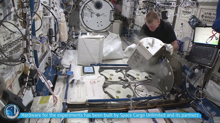 The wine is going to the International Space Station