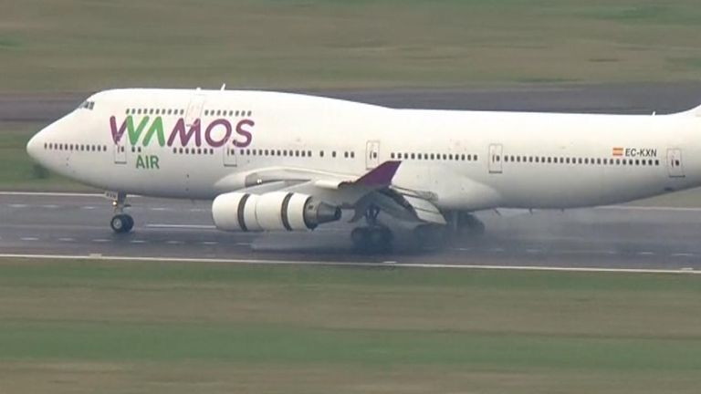 Plane from Wuhan lands in UK