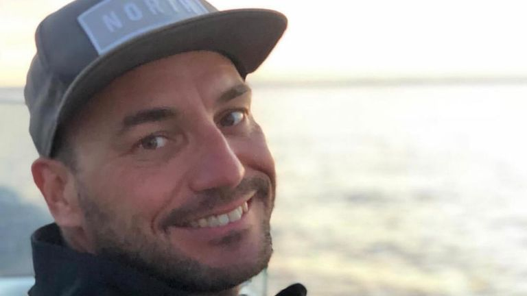 Professional sailor Zane Gills, 37, has died in a boating accident in Barcelona. Pic: Facebook/Sarah Gills