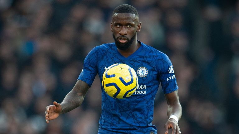 Antonio Rudiger of Chelsea