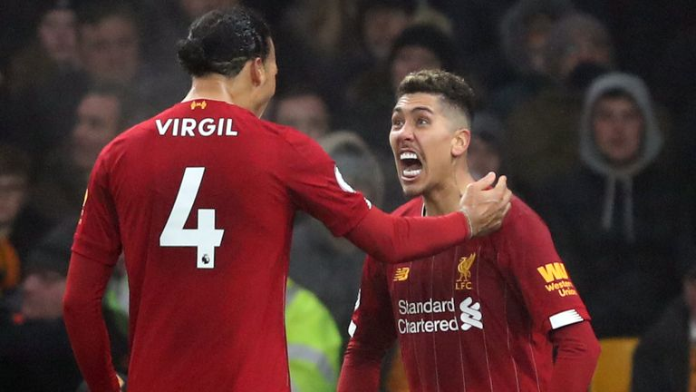 Roberto Firmino struck late for Liverpool