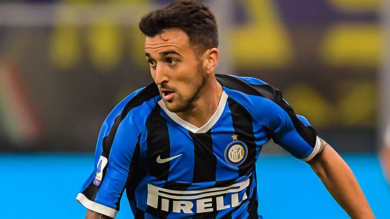 Matias Vecino in action for Inter Milan in September 2019