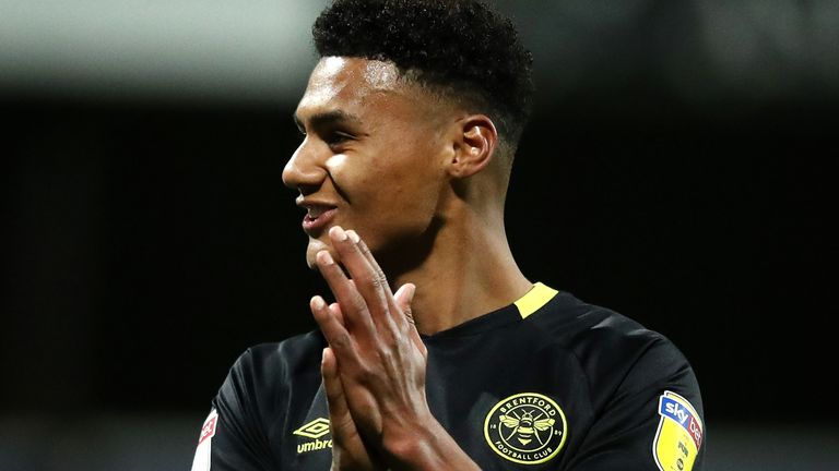 Brentford striker Ollie Watkins says interest from Premier League clubs has given him a 'nice feeling,' but that he won't be leaving the Championship side this month
