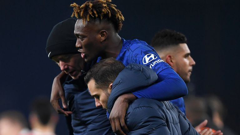 Tammy Abraham limps off after Chelsea's draw with Arsenal