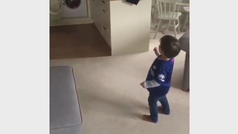 Chelsea fan Teddy Brown has stunned the internet with his peach of a left foot