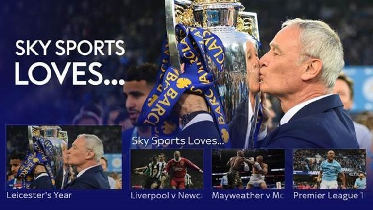 Sky Sports are celebrating Valentines weekend with a host of special programming