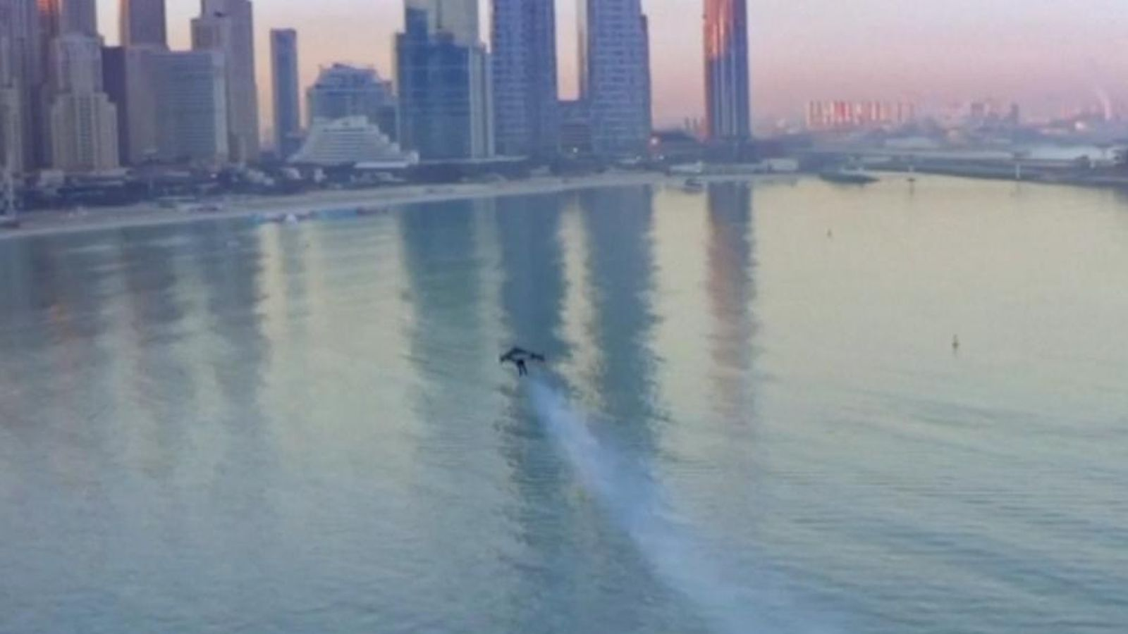 Jetman soars high above Dubai skyscrapers in breathtaking solo flight